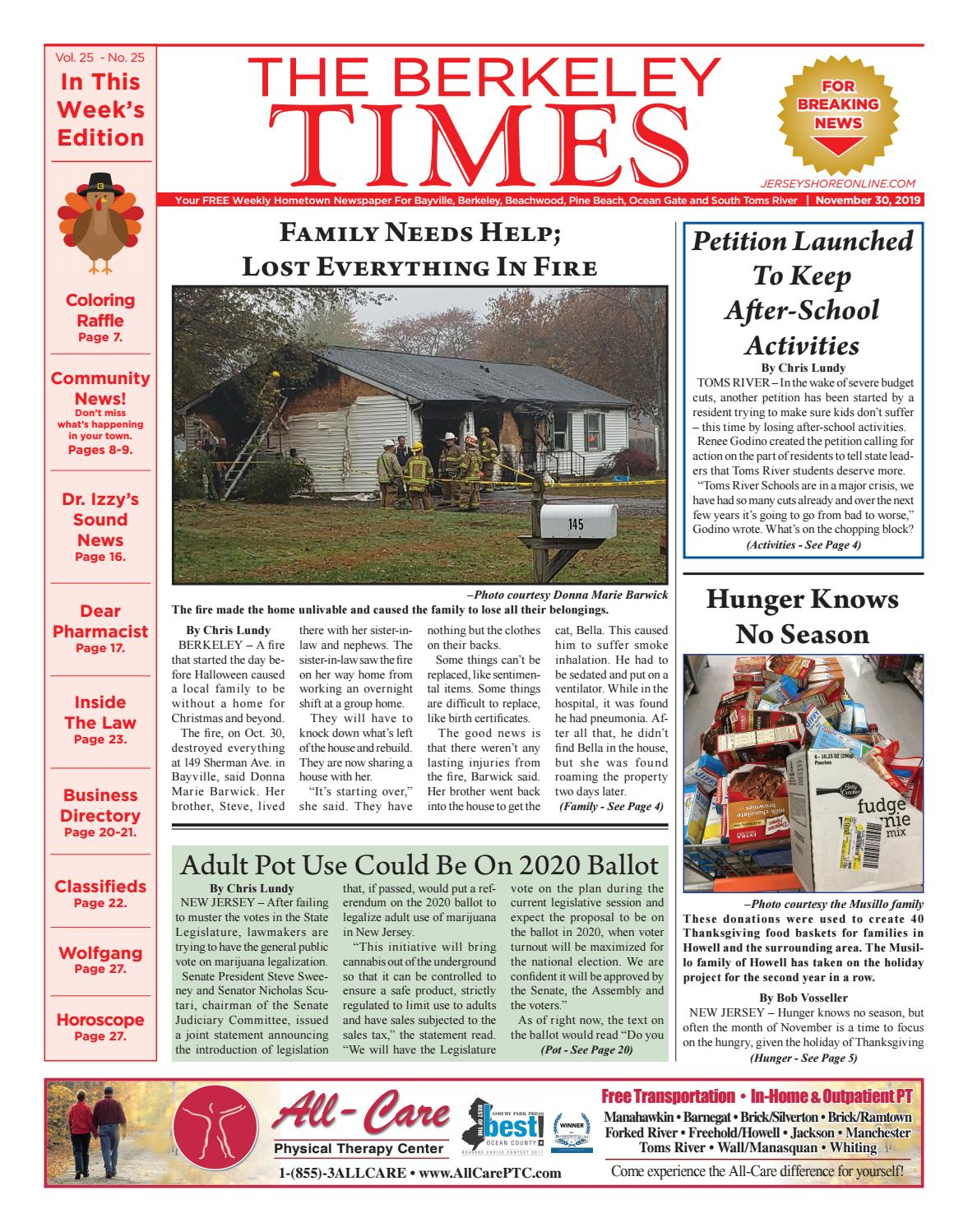 2019 11 30 The Berkeley Times By Micromedia Publications