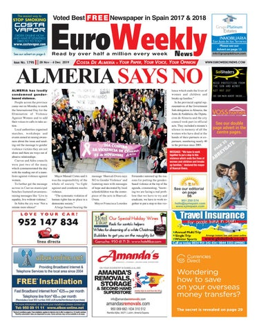 Euro Weekly News Costa De Almeria 28 November 4 December
