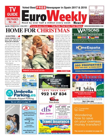 Euro Weekly News Costa Blanca South 28 November 4