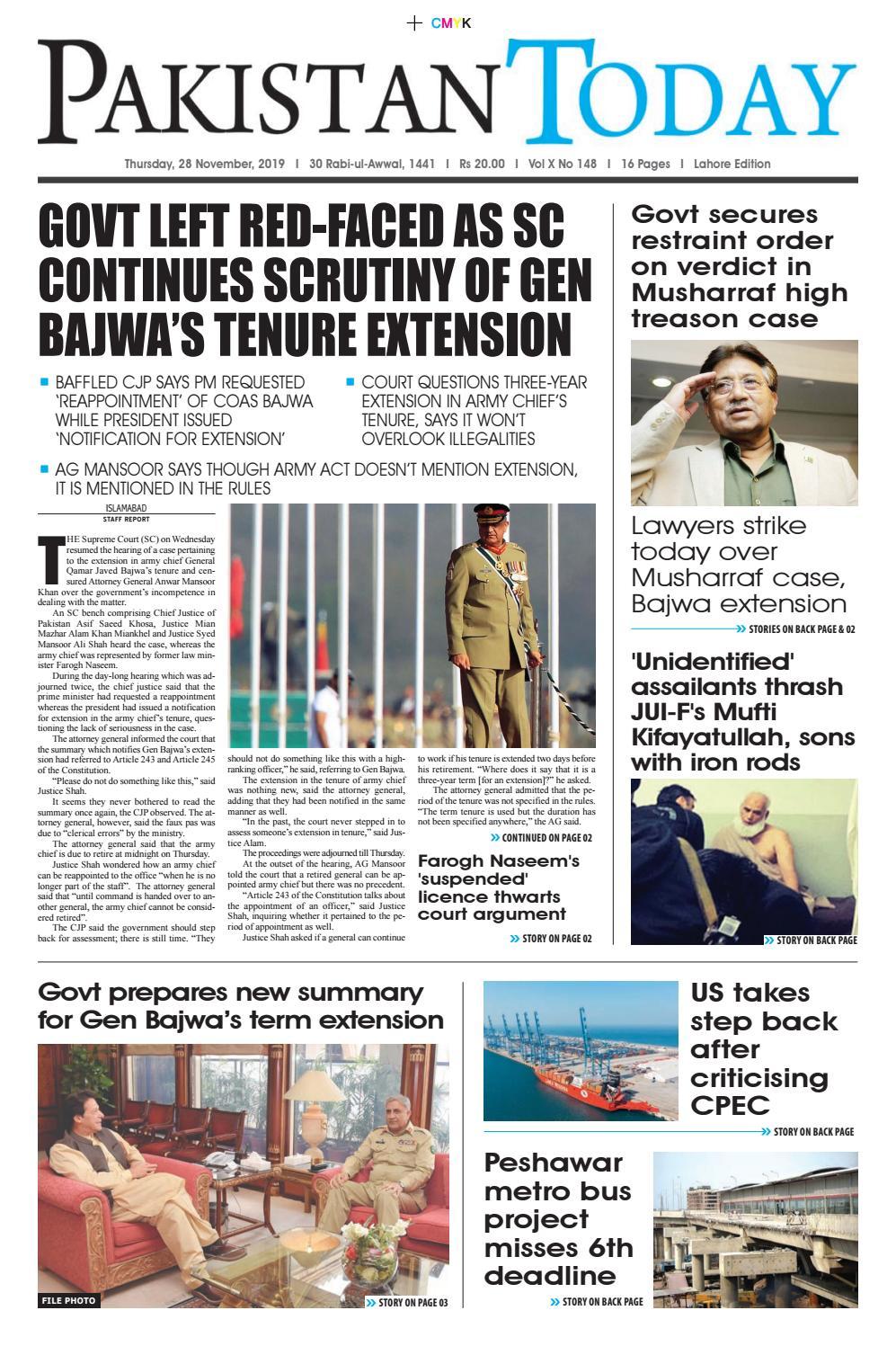 foto de E-Paper PDF 28th November (LHR) by Pakistan Today - issuu