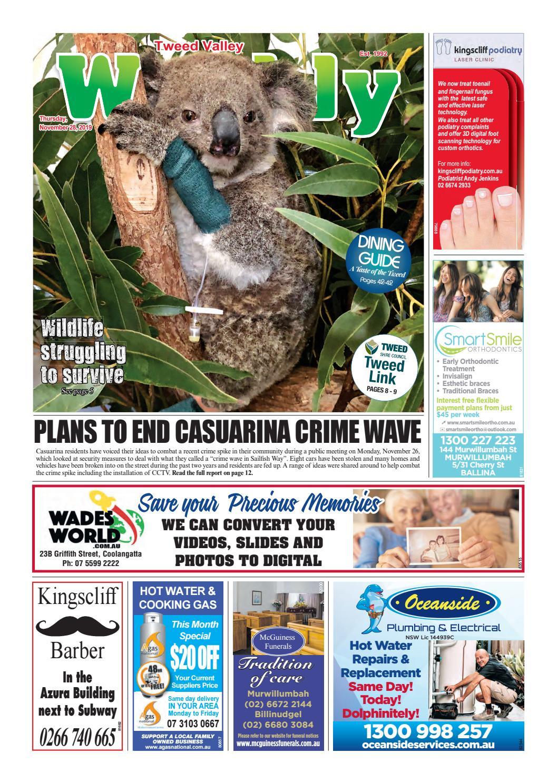 Tweed Valley Weekly, November 28, 2019 by Tweed Valley