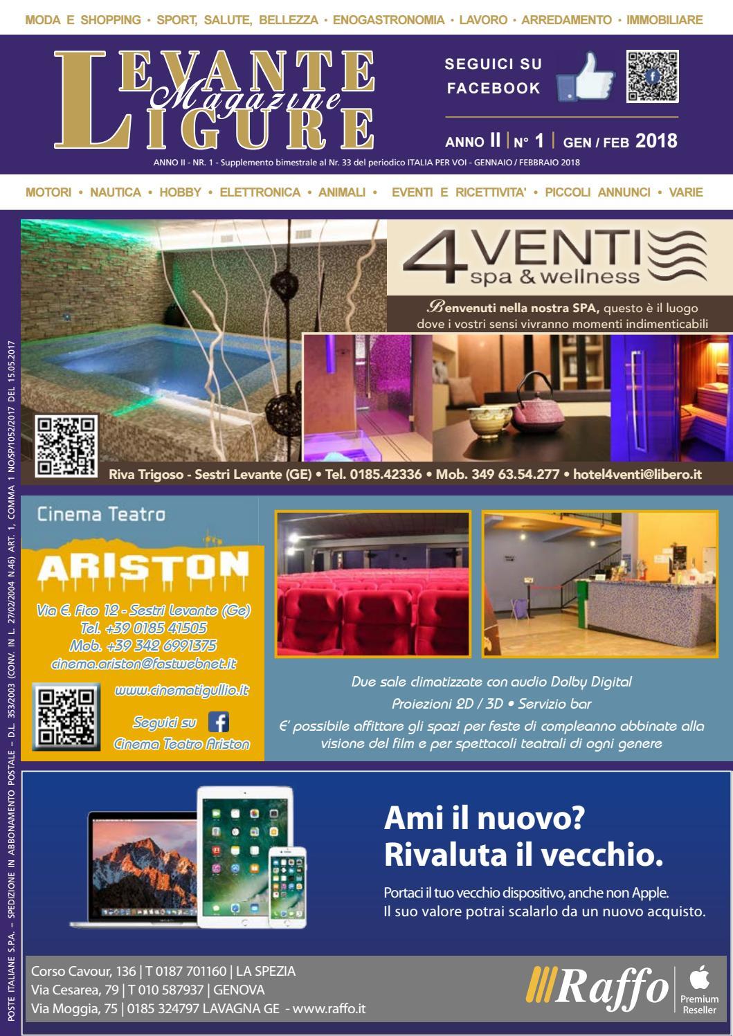 Levante Ligure Magazine Gennaio Febbraio 2018 By Italia Per Voi Issuu