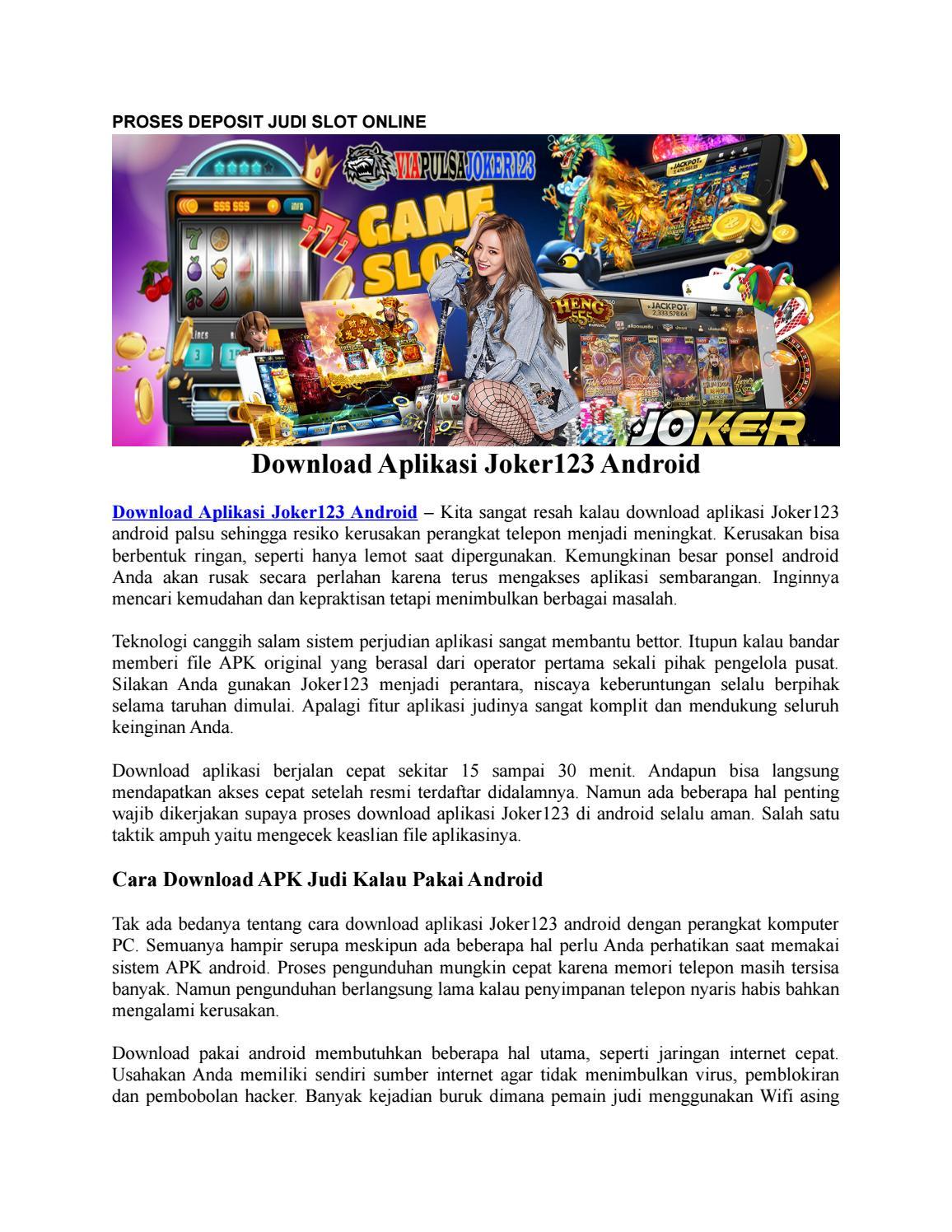 Proses Deposit Judi Slot Online By Viapulsajoker123 Com Issuu
