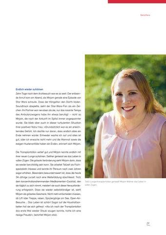 Page 21 of Swisstransplant Magazin Nr. 41 / Dezember 2019