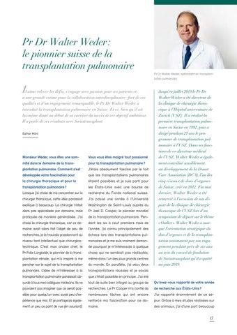 Page 17 of Pr Dr Walter Weder: le pionnier suisse de la transplantation pulmonaire
