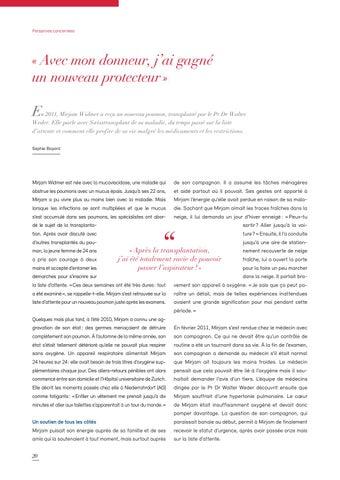 Page 20 of Swisstransplant magazine no° 41 / décembre 2019