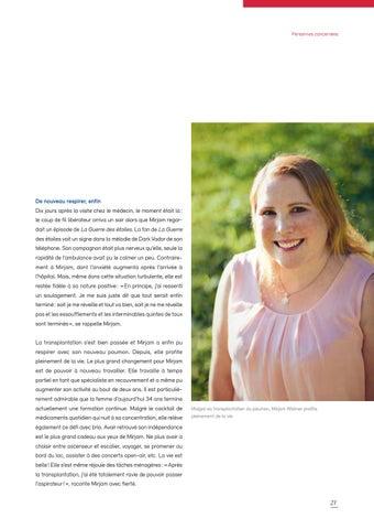 Page 21 of Swisstransplant magazine no° 41 / décembre 2019