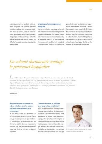 Page 5 of La volonté documentée soulage le personnel hospitalier