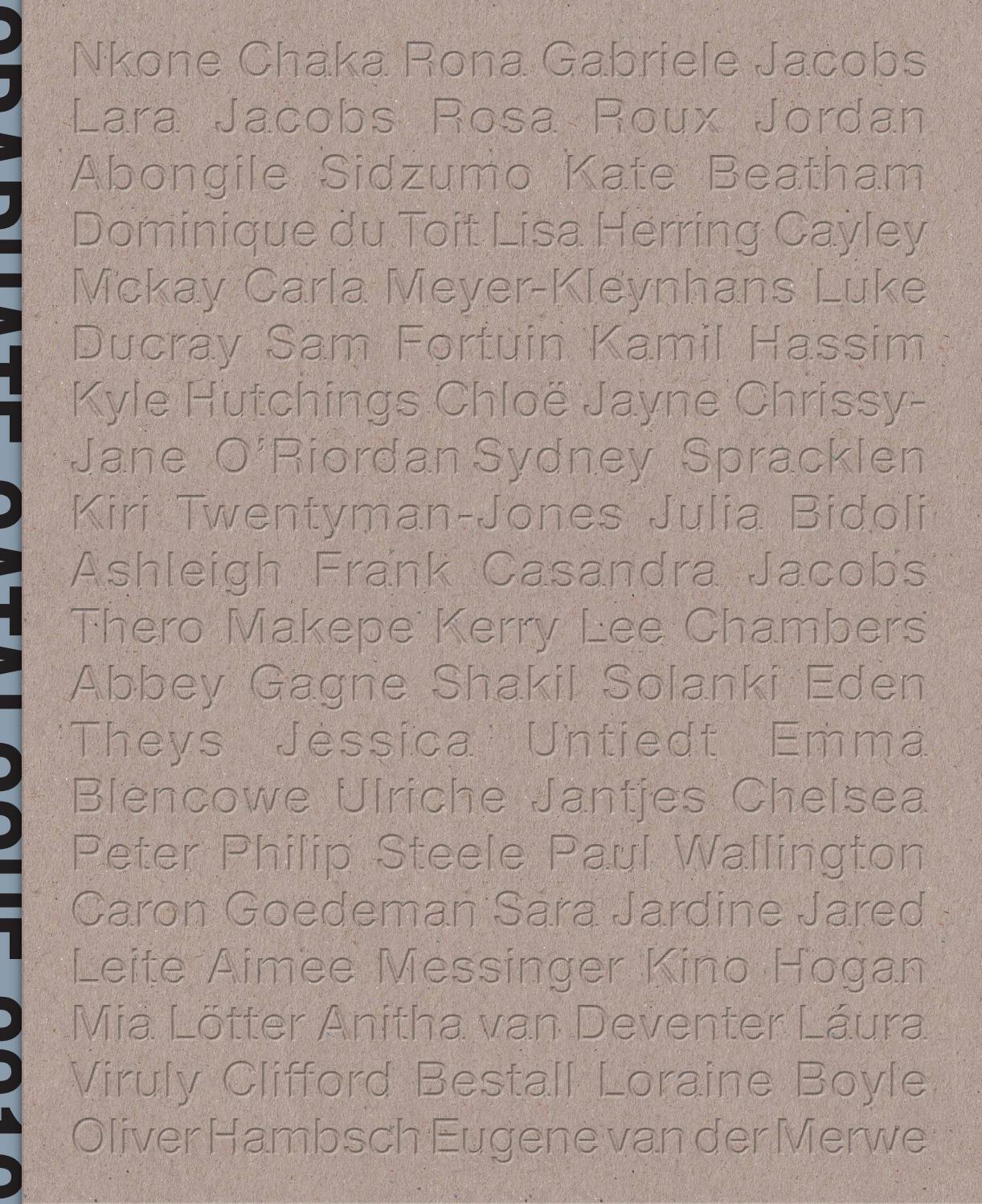 Michaelis School Of Fine Art Graduate Catalogue 2019 By Matthew Bradley Issuu
