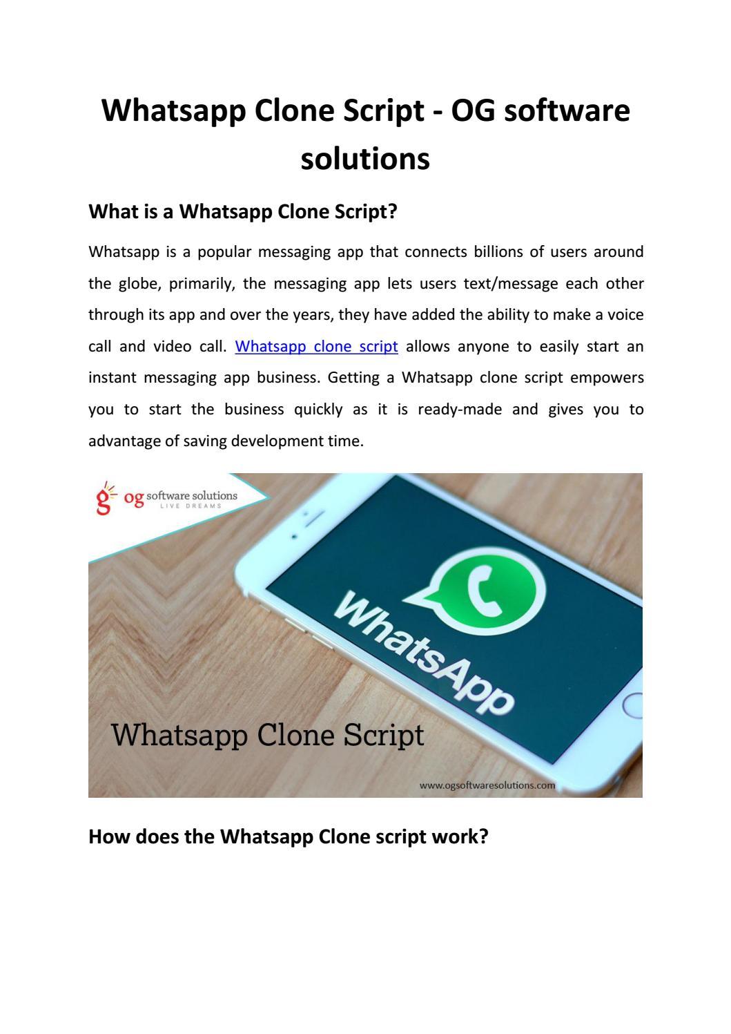 Whatsapp Clone Script Og Software Solutions By Ogsoftwaresolutionspvtltd Issuu