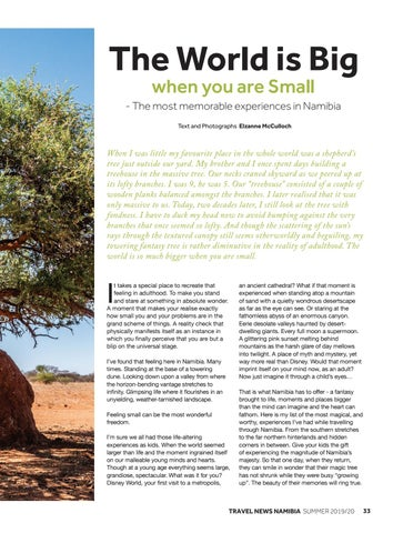 Page 35 of The World is Big when you are Small - The most memorable experiences in Namibia