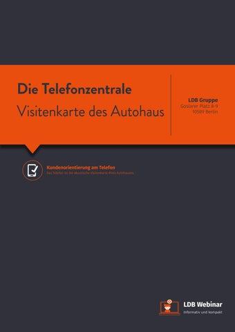Die Telefonzentrale Visitenkarte Des Autohaus By Ldb