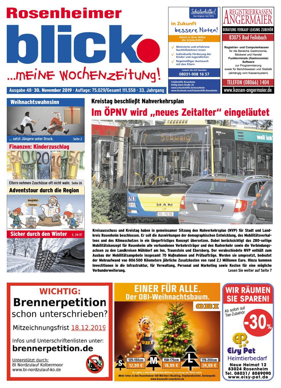 Rosenheimer blick Ausgabe 48 | 2019 by Blickpunkt Verlag