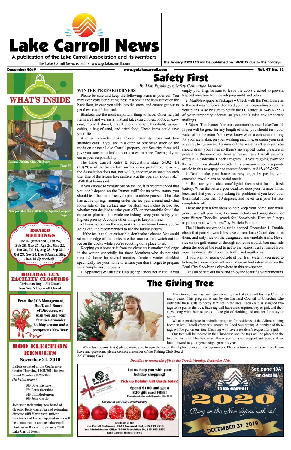 Temple Square Christmas Lights 2020-2022 Lake Carroll News December 2019 by Lake Carrol News   issuu