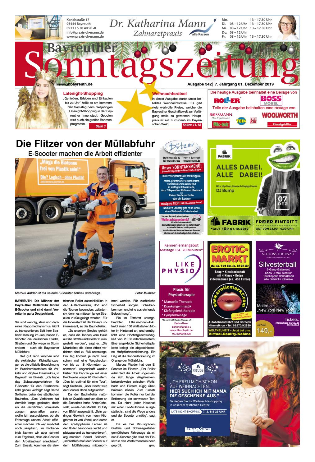 2019-12-01 Bayreuther Sonntagszeitung by Bayreuther ...