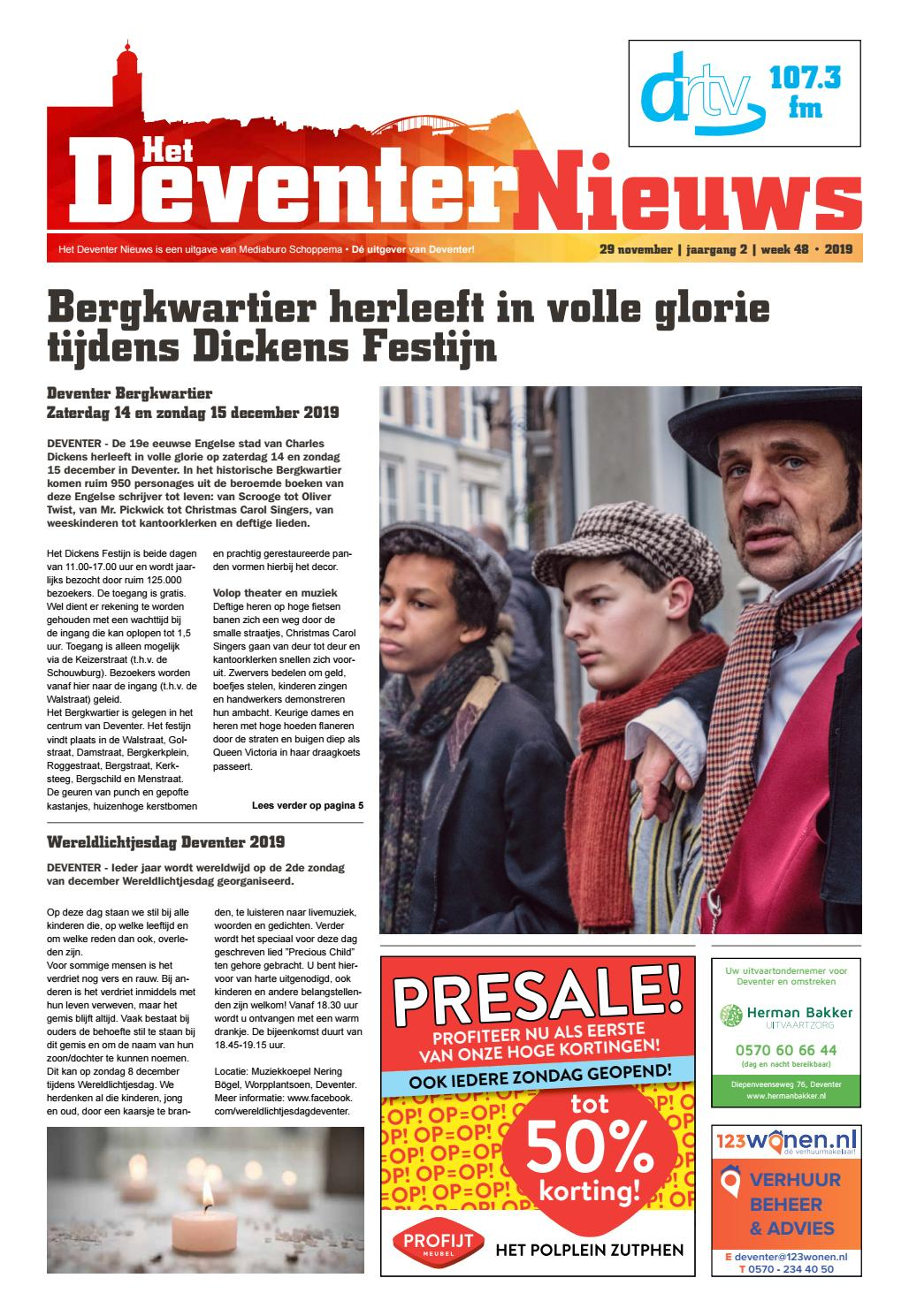 Deventer Nieuws Week 48 2019 By Mediaburo Schoppema Issuu