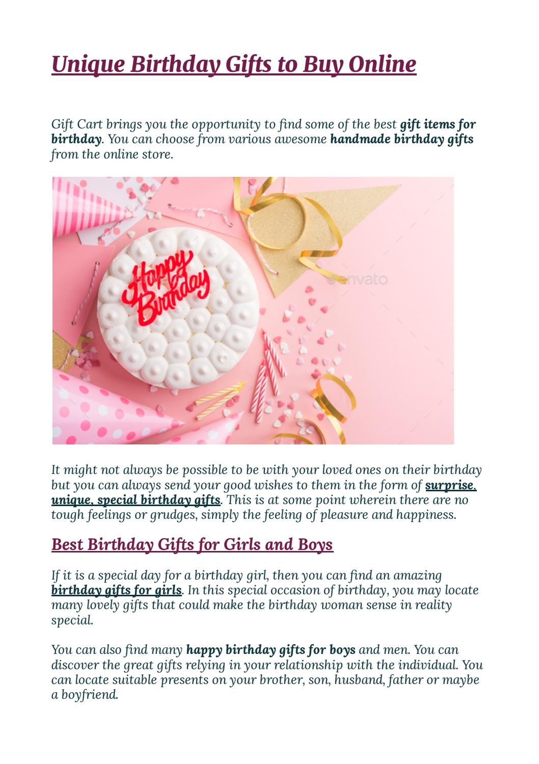 Buy Send Best Birthday Gifts For Girls Boys By Tiedribbons Issuu