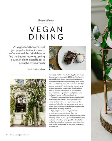 Page 36 of Britain's finest vegan dining