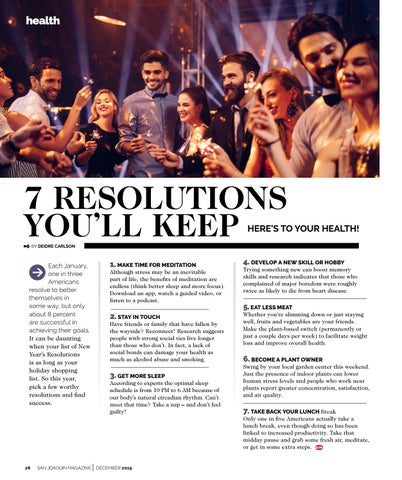 Page 28 of 7 RESOLUTIONS YOU'LL KEEP