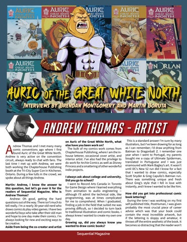 Page 8 of Interviews by Brendan Montgomery and Martin Boruta Auric of the great White North