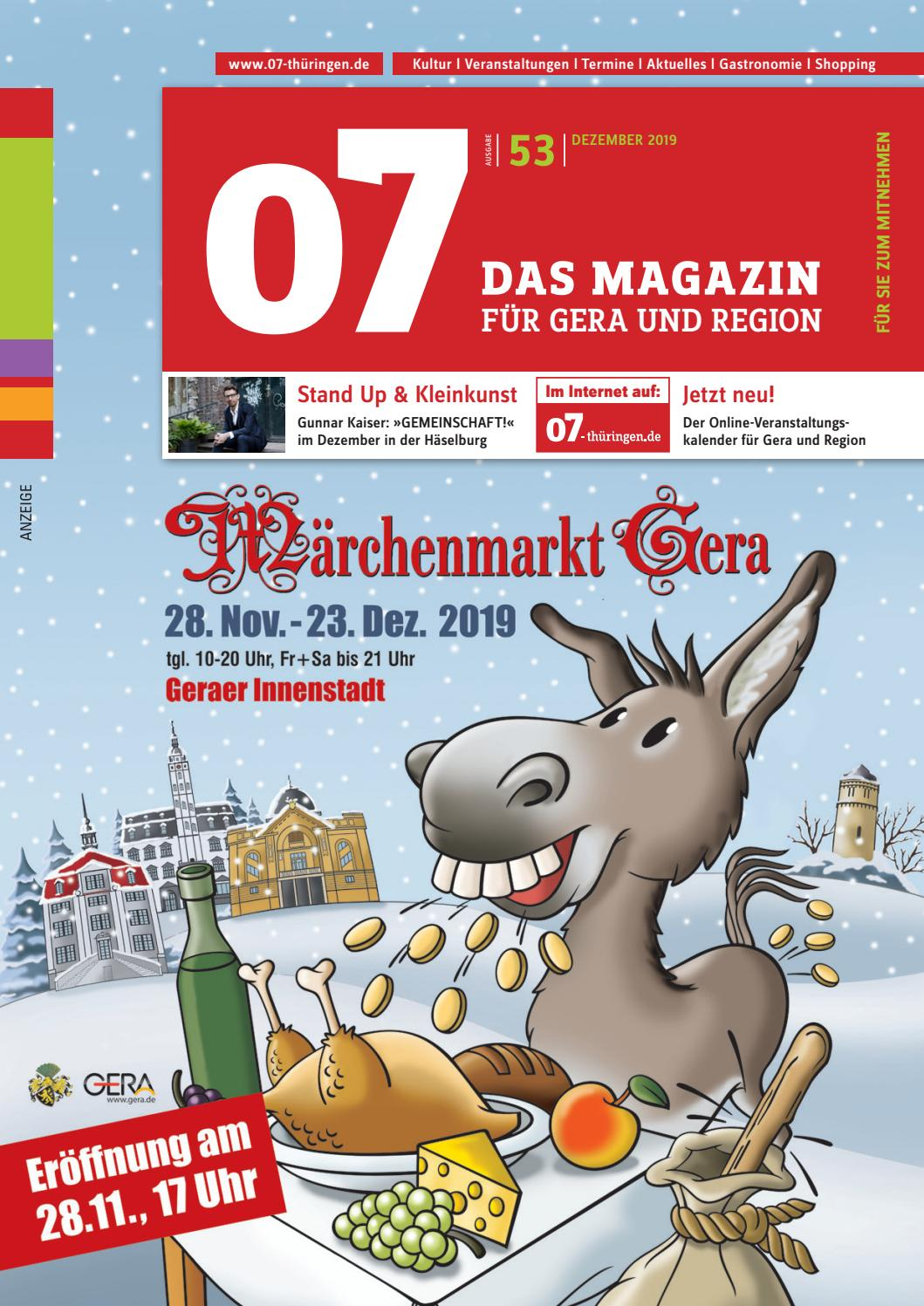 07 Das Magazin für Gera & Region, Ausgabe 53, Dezember 2019