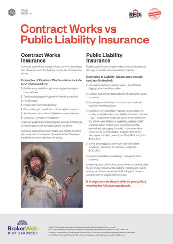 Page 10 of Contract Works vs Public Liability Insurance