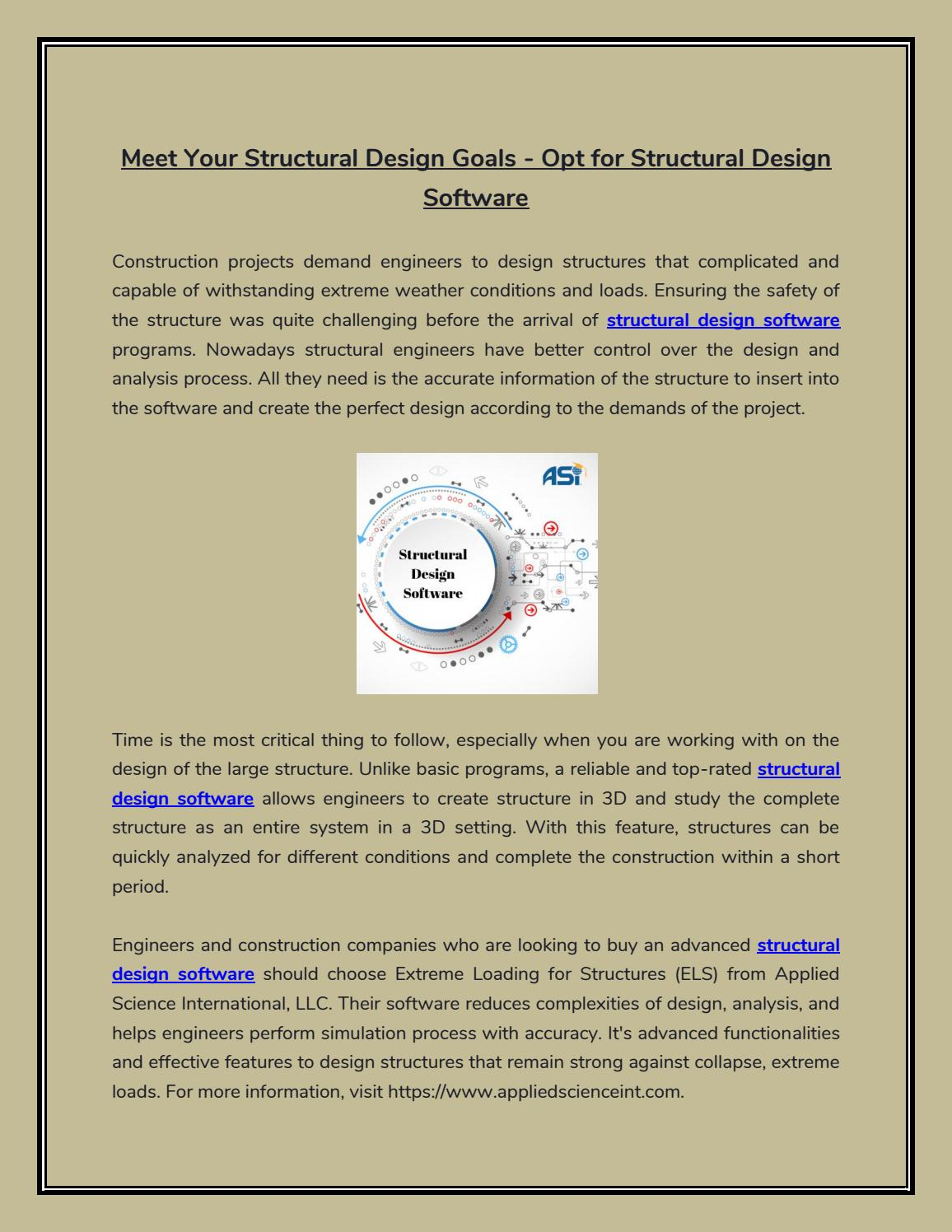 Meet Your Structural Design Goals - Opt for Structural Design ...