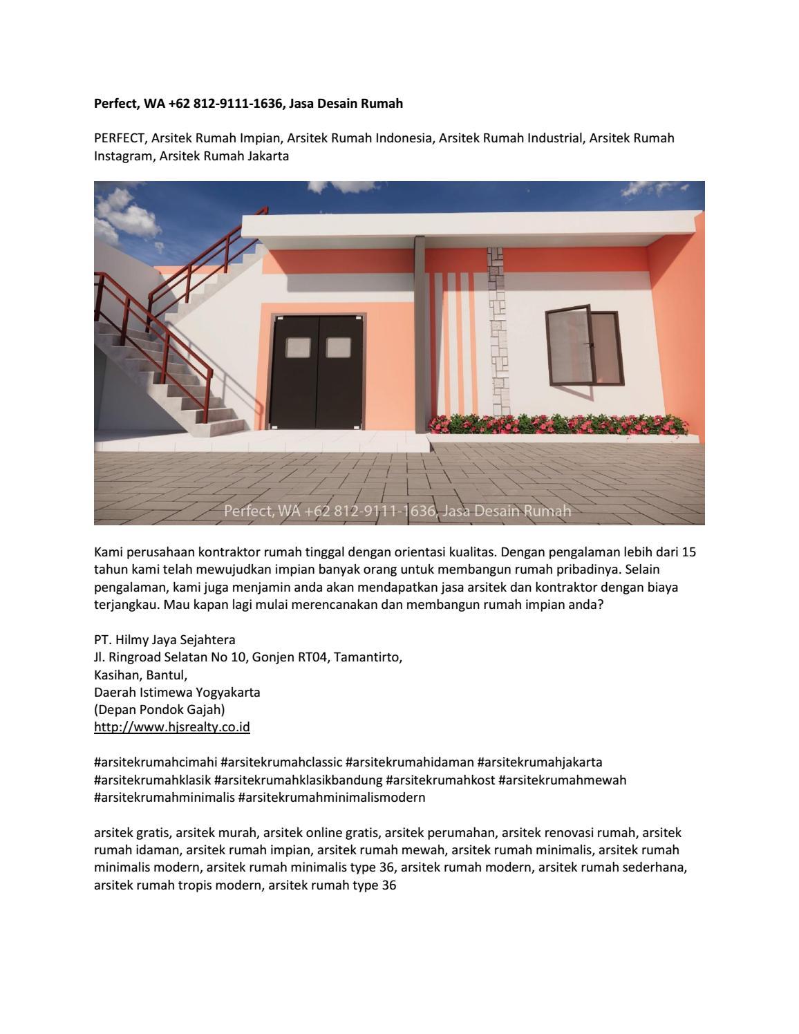 Perfect Wa 62 812 9111 1636 Jasa Desain Rumah By Jasaarsitek Rumah Issuu