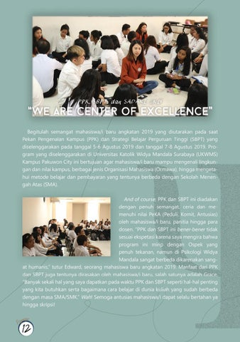 "Page 14 of PPK, SBPT, dan SADARI 2K19: ""We Are Center of Excellence"""
