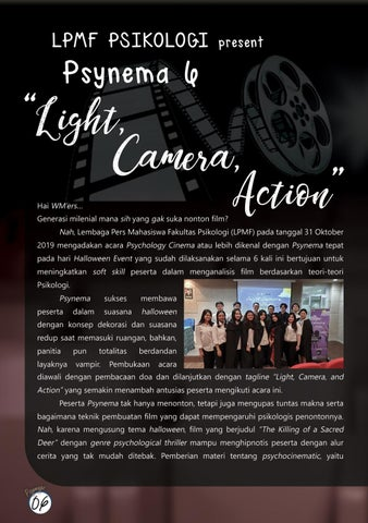 "Page 8 of LPMF Psikologi: Psynema 6 ""Light, Camera, Action"""