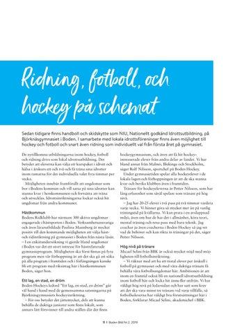 Page 11 of Ridning, fotboll, och hockey på schemat