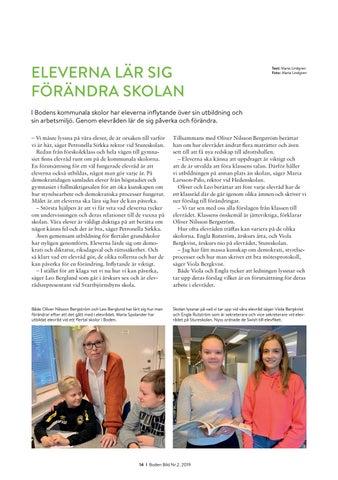 Page 14 of ELEVERNA LÄR SIG FÖRÄNDRA SKOLAN