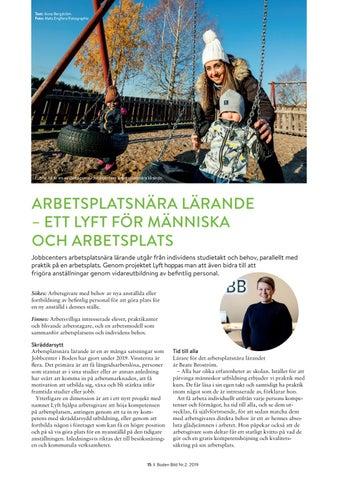 Page 15 of ARBETSPLATSNÄRA LÄRANDE – ETT LYFT FÖR MÄNNISKA OCH ARBETSPLATS