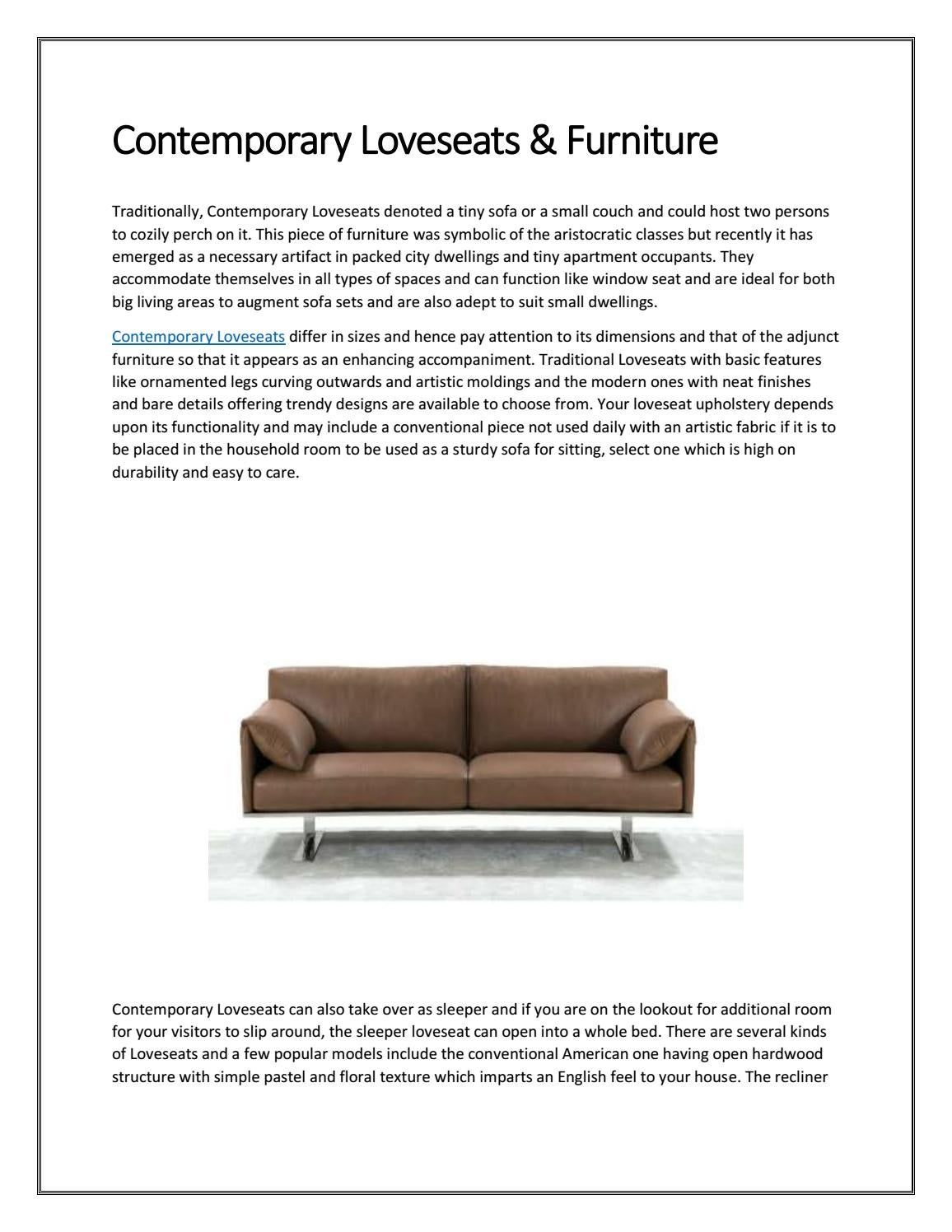 Contemporary Loveseats Furniture By Modtempo Issuu