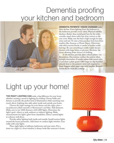 Page 13 of Dementia Proofing Your Kitchen and Bedroom