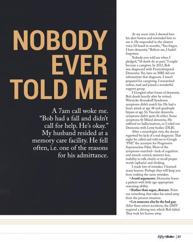 Page 27 of Nobody Ever Told Me: Lessons From a Dementia Caregiver