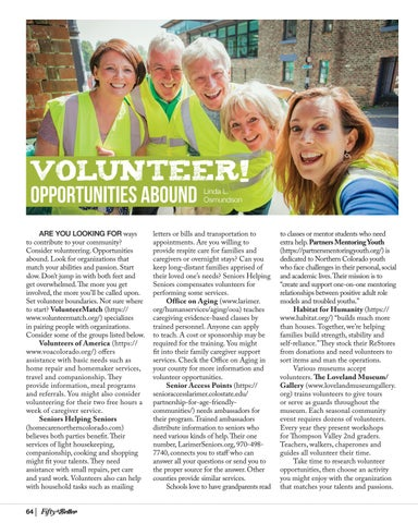 Page 64 of Volunteer! Opportunities Abound