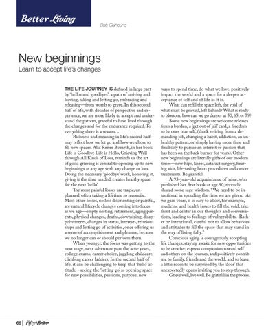Page 66 of New Beginnings: Learn to Accept Life's Changes