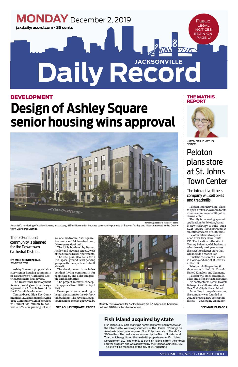 Jacksonville Daily Record 12219 By Daily Record Observer