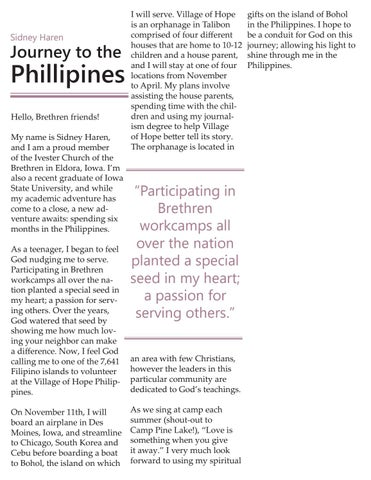 Page 4 of Sidney Haren: Journey to the Phillippines