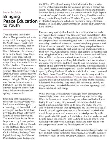 Page 6 of Nolan McBride: Bringing Peace Education to Youth