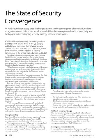 Page 14 of The State of Security Convergence