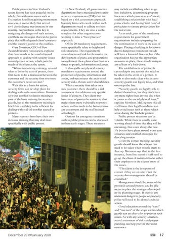 Page 17 of Protecting the Peace: Public protest and private security
