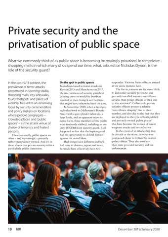 Page 18 of Private Security and the Privatisation of Public Space