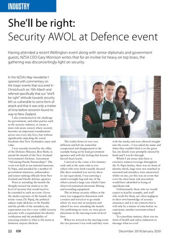 Page 22 of She'll be right: Security AWOL at Defence event