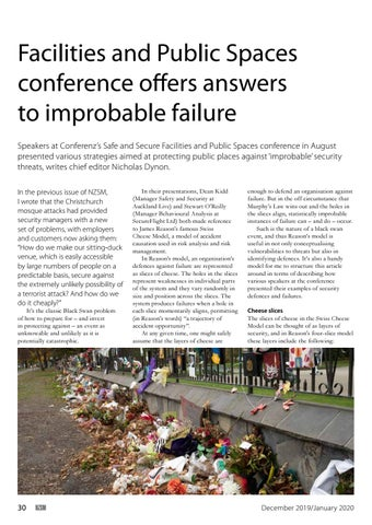 Page 30 of Facilities and Public Spaces conference offers answers to improbable failure