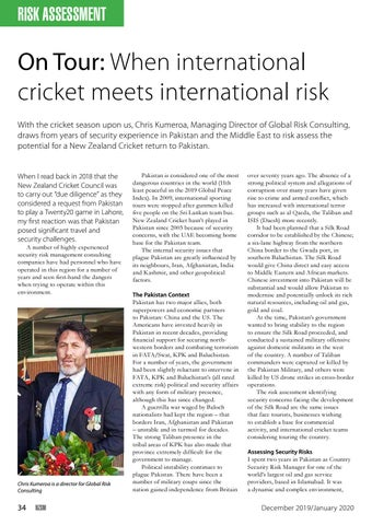 Page 34 of On Tour: When international cricket meets international risk
