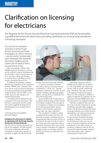 Page 44 of Clarification on licensing for electricians