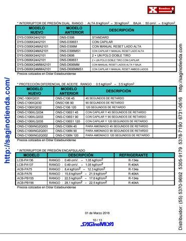 Page 10 of ▷ VÁLVULAS Y CONTROLES AUTOMÁTICOS - Rimsa Saginomiya - http://saginotienda.com/