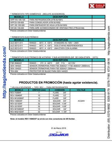 Page 12 of ▷ VÁLVULAS Y CONTROLES AUTOMÁTICOS - Rimsa Saginomiya - http://saginotienda.com/
